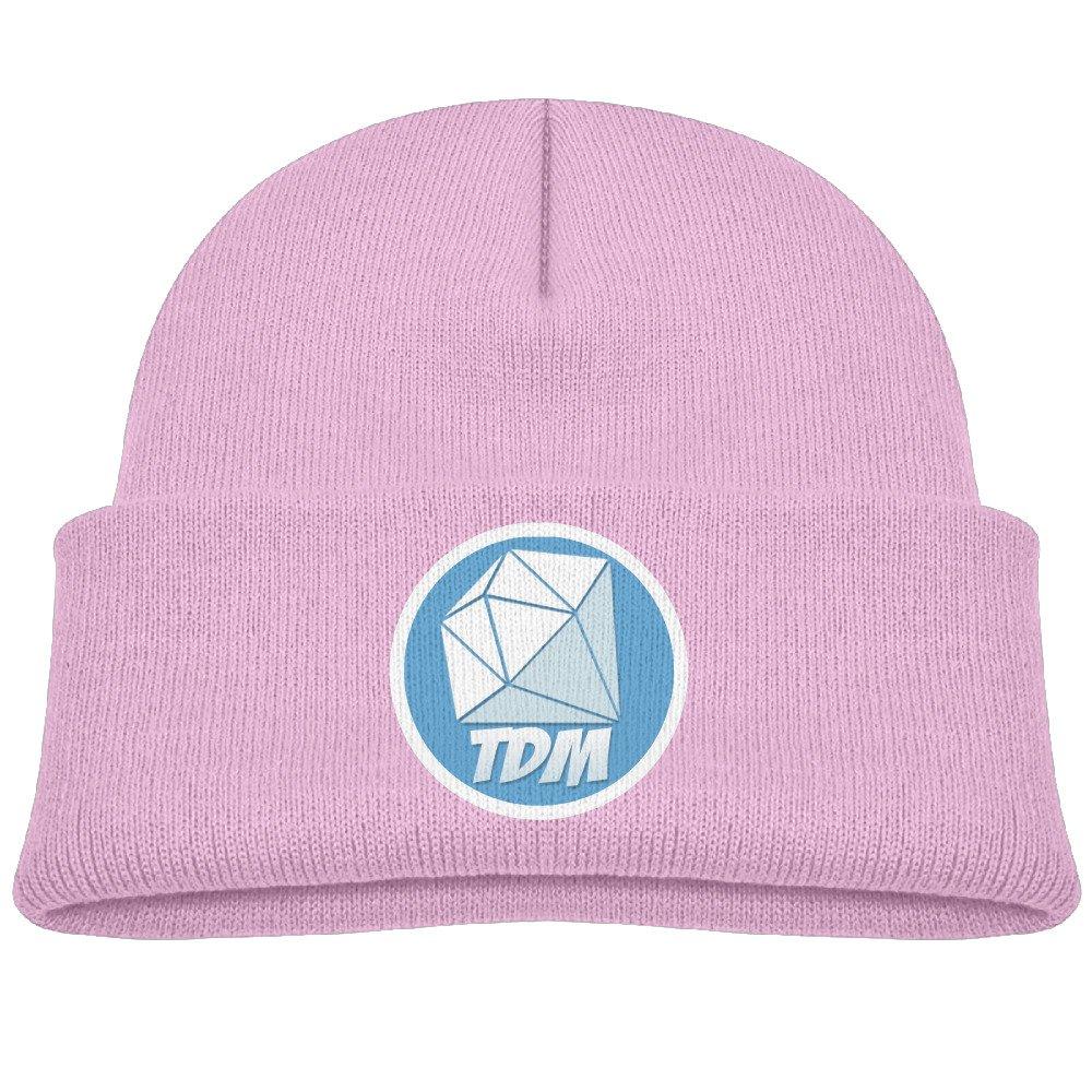 Youtube DanTDM Logo Children's Beanie Skull Cap Hat One Size Black SM STOR