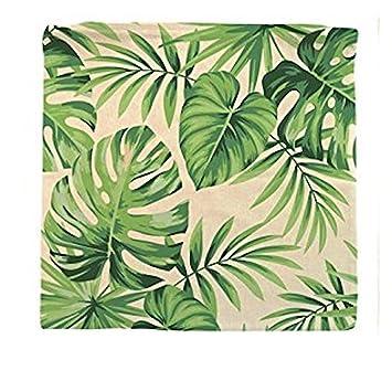 Decoración réf1o80 Deco.40 - Funda de cojín Tropical hojas ...