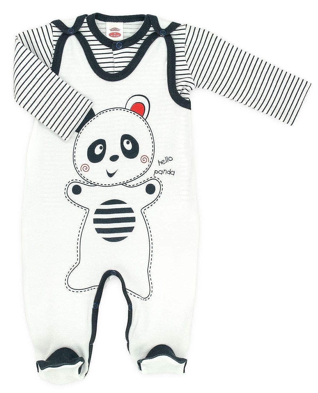 Makoma Baby Erstausstattung Unisex Strampler-Set mit Langarmshirt 50 /– 74