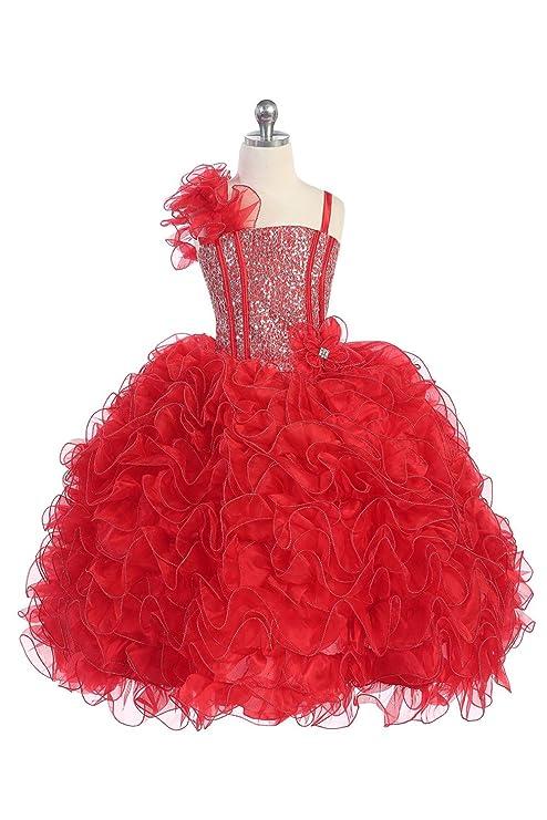 Amazon flower girls big girls dress multi sequin beaded dress amazon flower girls big girls dress multi sequin beaded dress burgundy red clothing mightylinksfo