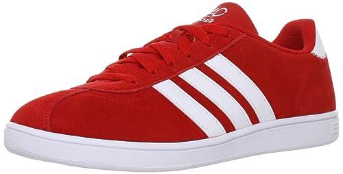 Sneaker Adidas Vlneo Schuhe Herren Weiss Rot Court WildlederAmazon 3A5jR4L