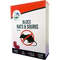 TERRA NOSTRA Blocs/Raticide/Souricide/Souris/Anti-Rat, Rouge