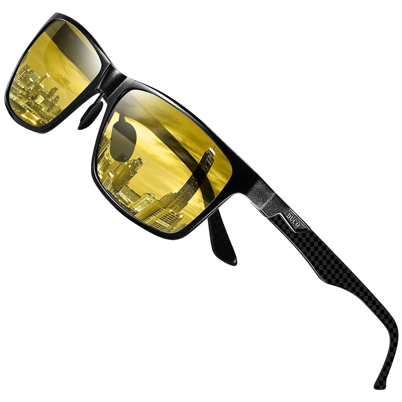 Anti Glare Occhiali guida notturna HD Vision polarizzati COLORATA UNISEX LENTE GIALLA