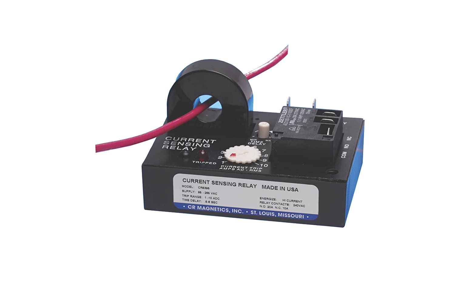 Zero Crossing and Internal Transformer 0.1-1 Second Trip on Delay 3-30 AAC Trip Range Latch on Low Trip 24D VAC CR Magnetics CR4395-LL-24D-330-C-CD-TRC-I Current Sensing Relay with Optoisolated Triac