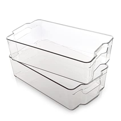 Amazoncom Bino Stackable Rectangular Plastic Storage Organizer Bin