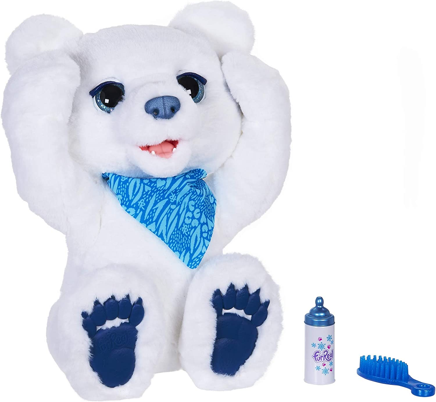 furReal Polar Bear Cub Interactive Plush Toy, Ages 4 and Up (Amazon Exclusive)