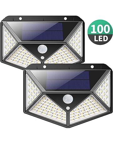 Luz Solar Exterior, iPosible [Versión Actualizada] 100 LED Foco Solar con Sensor de