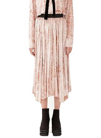 Falda Mujer Plisada Primavera Mujer Terciopelo, Pink-M: Amazon.es ...