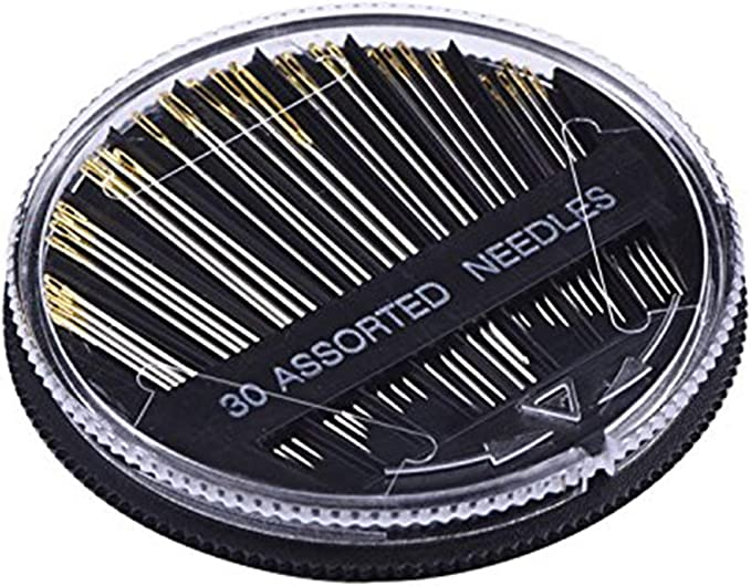 30-Count Assorted Hand Sewing Stainless Steel Needles for Home Sewing Set 3 Pack