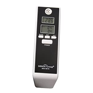 Sidiou Group Digital Breath Alcohol Tester portátil de pantalla dual Detector de Alcohol LCD Digital del probador y del contador de tiempo del analizador del alcohol