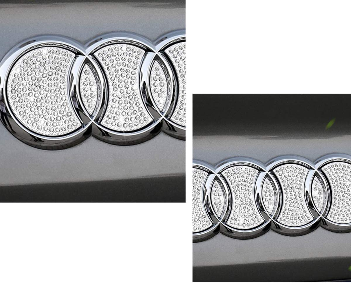 Fit for Audi Rear logo Bling Accessories Compatible A3 A4 A1 S RS series Rhinestone Decal Cover Women mens Crystal Accessories