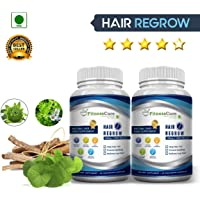 Fitnesscure 100% Natural & Organic Hair regrow Extract 60 Capsules (Pack Of 2)