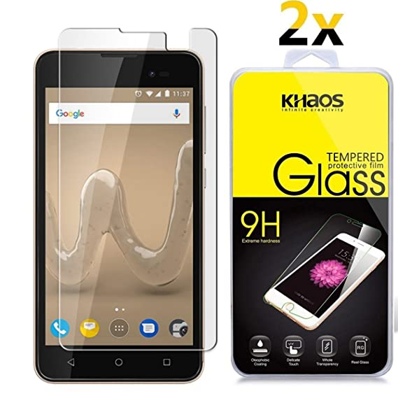 Amazon com: [2 Pack] Wiko Sunny 2 Plus Screen Protector, KHAOS