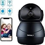 SMTALY C3 Cámara IP 1080P,Cámara Vigilancia WiFi Inalámbrico Interior,Cámara de Seguridad para Detección de Movimiento, Audio Bidireccional, Alarma Email, Compatible con iOS, Android, PC, Negro