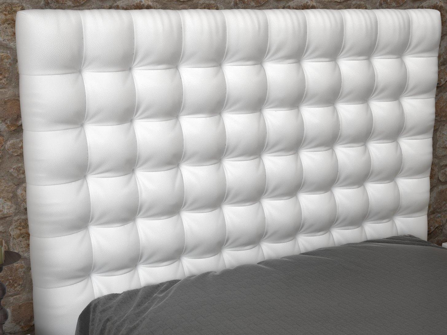 LA WEB DEL COLCHON - Cabecero Manhattan (Cama 80) 90 x 70 cms. 00 - Blanco: Amazon.es: Hogar