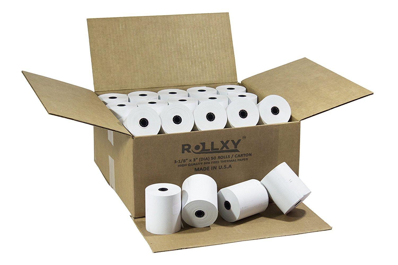 (50 Rolls) BPA FREE ROLLXY Thermal Paper - 3-1/8 x 230 Feet (CT-S300) by PosPaperRoll