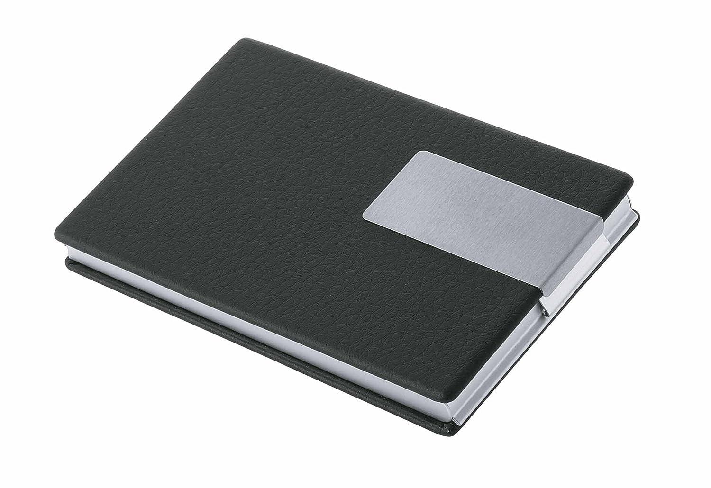 Wedo 2056601 Visitenkartenbox (Good Deal für Karten 90 x 57 mm) schwarz/silber Werner Dorsch GmbH