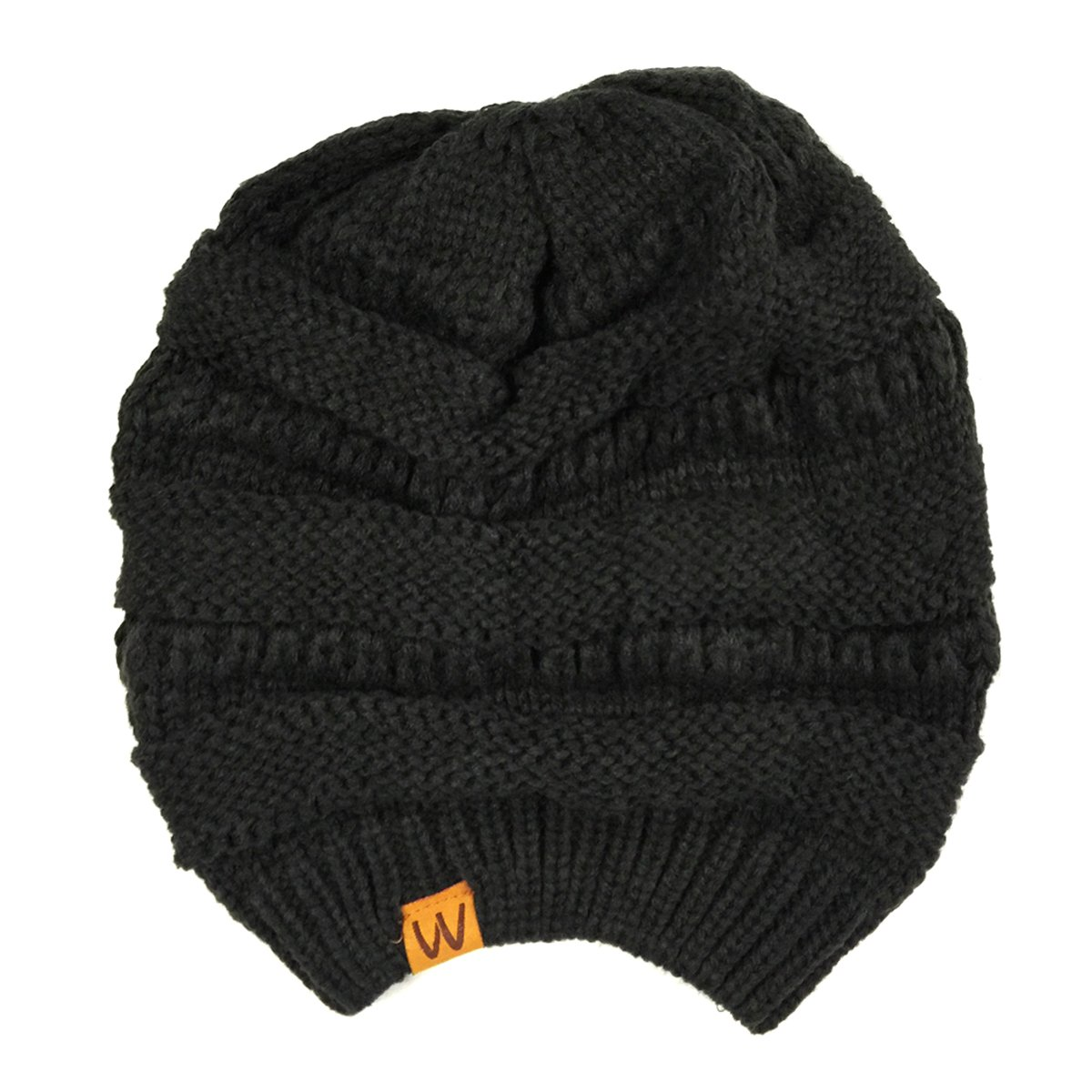 pretty nice 06b0b 2b868 Amazon.com  Wrapables Slouchy Winter Beanie Cap Hat, Black  Clothing