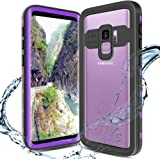 XBK Samsung Galaxy S9 Case, Waterproof Case with Built-in Screen Protector, Full-Body Rugged Resistant Protective Hard Cover Case for Galaxy S9 (2018)