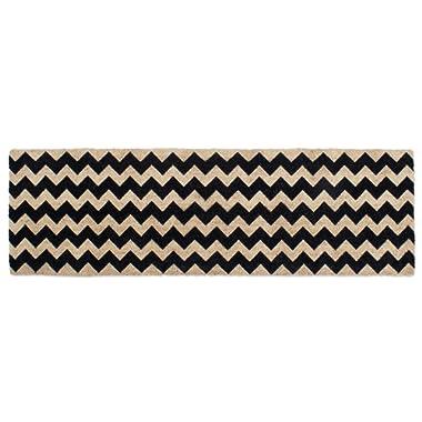 DII Double Black Chevron Doormat 18x60 ,