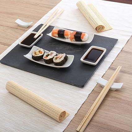 Mazali nbsp;Juego para sushi, piedra, 11 piezas, multicolor