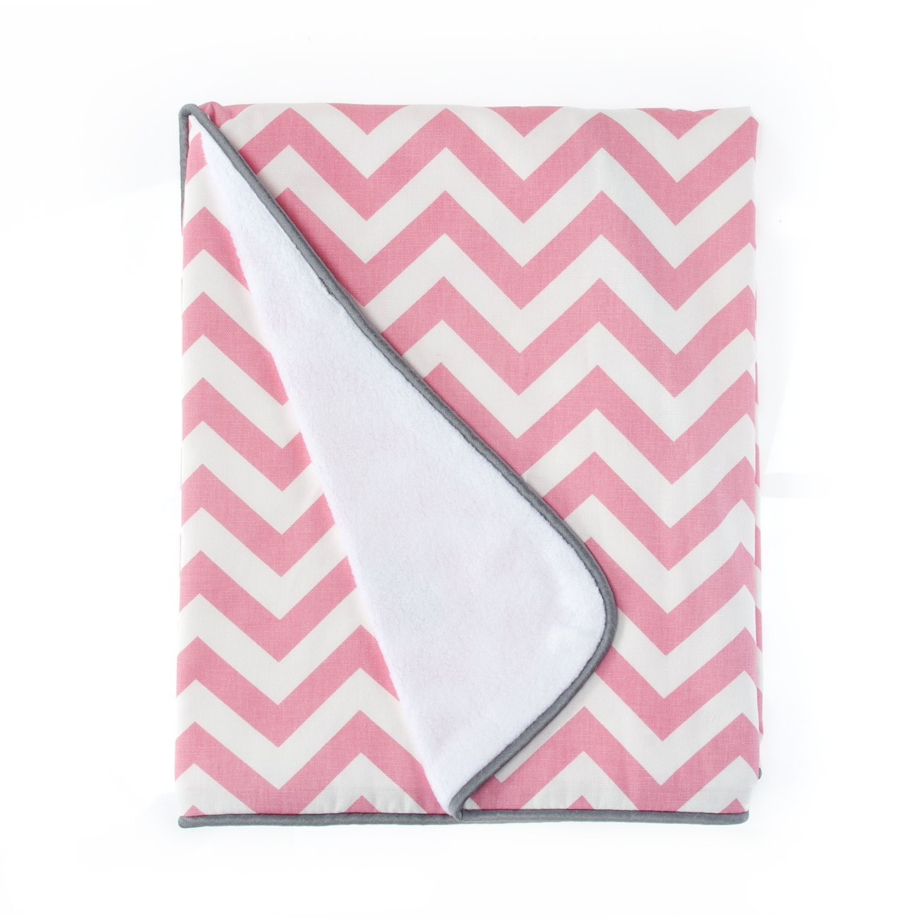 Sweet Potato Swizzle Quilt, Grey/Pink/White