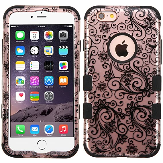 newest 9ed02 a31db MyBat Funda Case para iPhone 6s6 Doble Protector Uso Rudo Tuff, Rose Gold  Lace