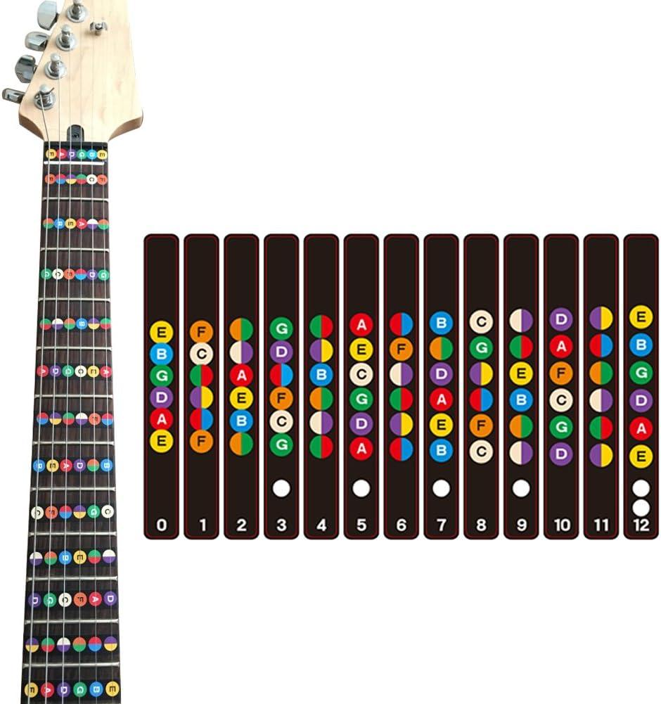 Akustische E-Gitarre Griffbrett Griffbrett Hinweis Aufkleber Karte Bünde Gita SP