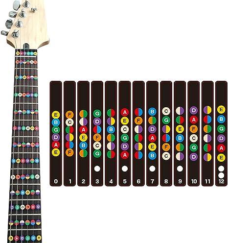 ccmart guitarra Fretboard Nota Fret adhesivos pegatinas para ...