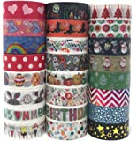 24 Rolls Holiday Washi Tape Set | Covering Celebrations in All Four Seasons | Multi-Purpose, Great for Adults and Kids…