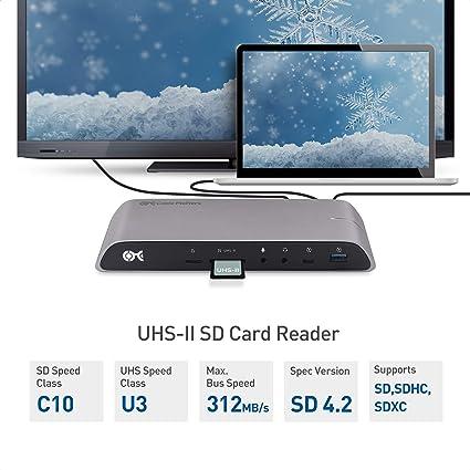 Cable Matters Dock 10Gbps USB C (Docking Estación de USB C) con Doble HDMI 4K y Carga de computador portátil de 80W para computadores de Windows: Amazon.es: Electrónica