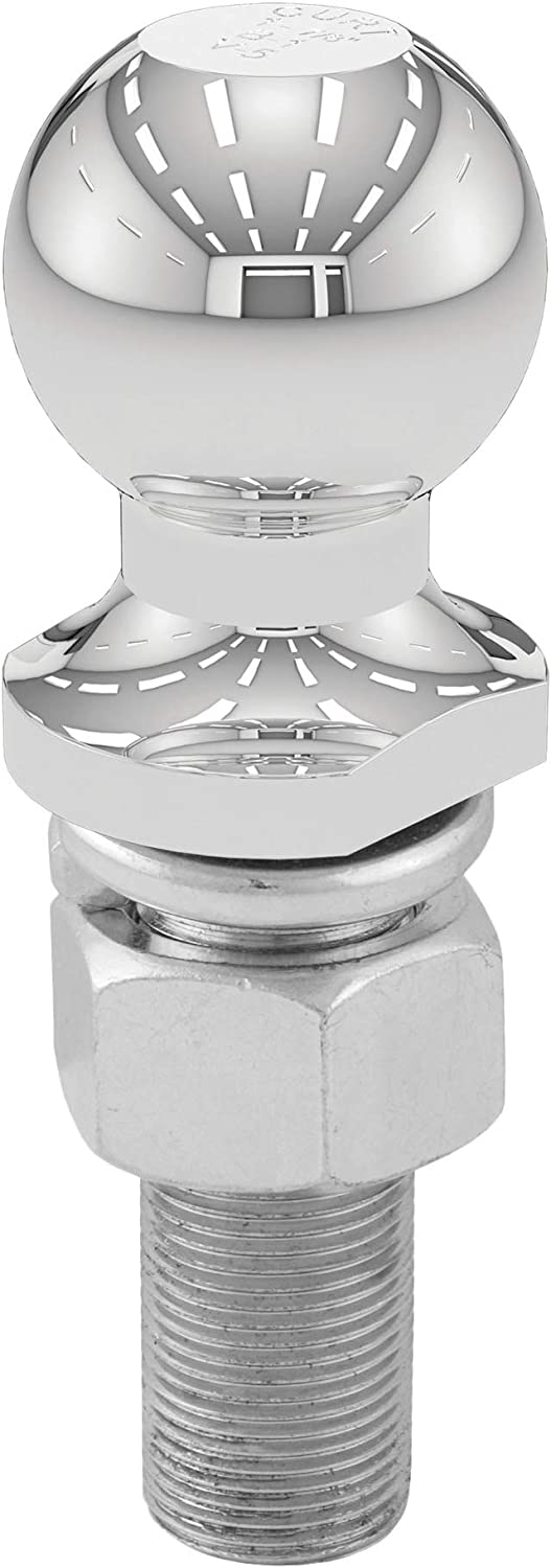 CURT Manufacturing 40072 1-7//8 In Diameter Chrome Trailer Ball Packaged