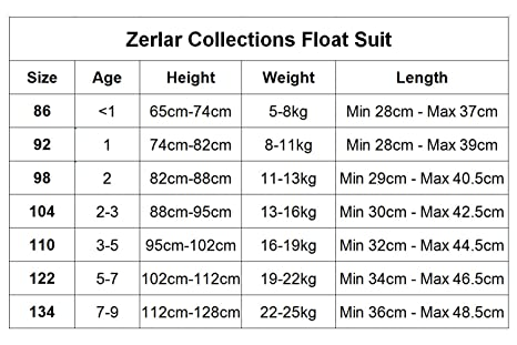 baaf39129f629 Amazon.com   Zerlar Swimwear Float Suit with Adjustable Buoyancy for 1-9  years Babies   Sports   Outdoors