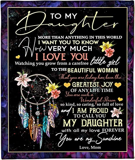 Love Daughter fleece,sherpa blanket To My Daughter Blanket Gift From Mom