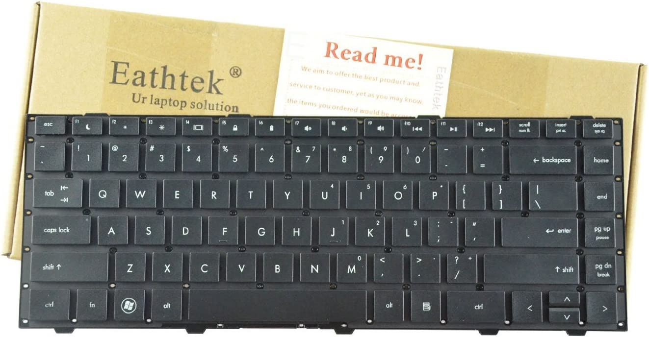 Eathtek Replacement Keyboard No Frame for HP Probook 4440s Series Black US Layout, Compatible Part Number 701282-001 683657-001