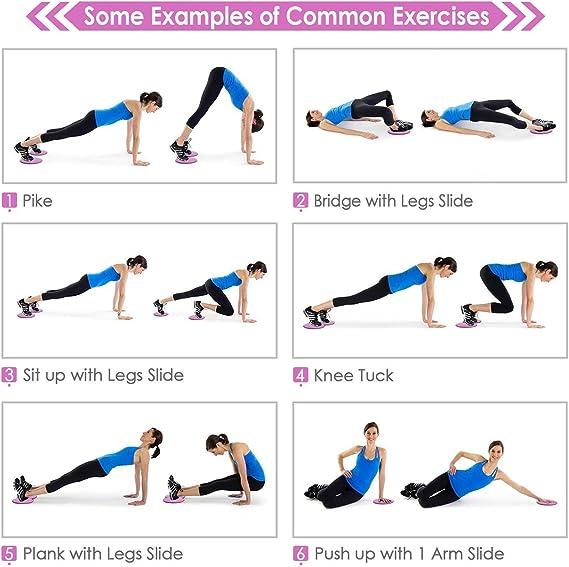 2 Stü Fitness Rutsche Scheibe Ganzkörpertraining Yoga Gleitscheiben Für