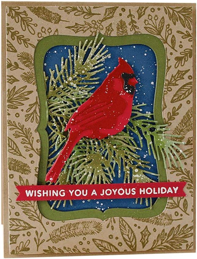 Silver YESZ Scrapbooking /& Stamping,Cutting Dies,Animal Bird Cutting Dies DIY Scrapbook Emboss Paper Cards Album Decor Stencil