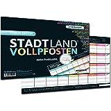 DENKRIESEN Stadt Land Vollpfosten - Junior Edition, Stadt-Land-Fluss Neu aufgelegt für Kinder und Jugendliche (Spielblock im Din A4-Format)