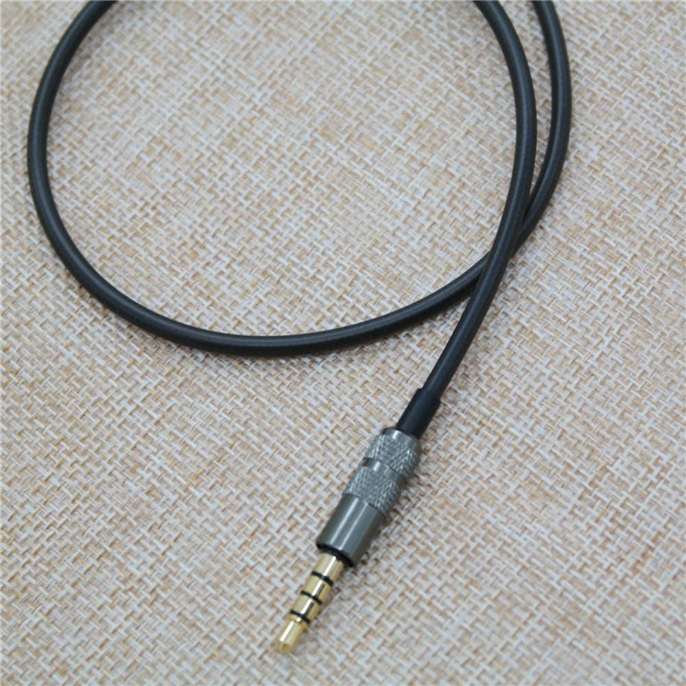 Earphone Replacement Cable with Mic Remote Volume Control Headphone Cord MMCX Interface 3.5mm Jack Compatible with Shure SE846 SE535