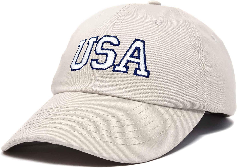 DALIX USA Baseball Cap Flag Hat Team US America Navy Red White Blue Black Gray