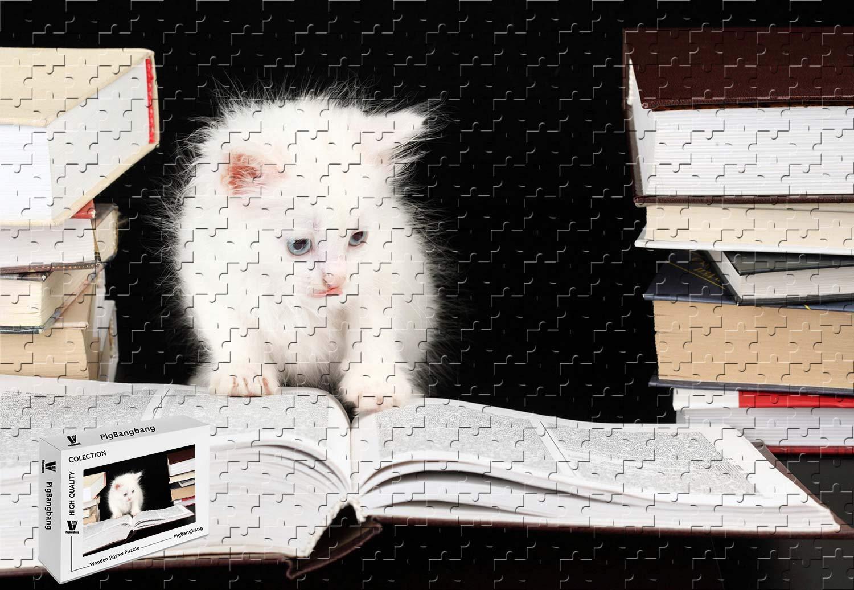 PigBangbang、20.6 X B07GWCR6HX PigBangbang、20.6 15.1インチ X、手作り知育ゲームプレミアム木製DIY、ジグソーグルー 素敵な絵画 - 猫の読書 - 300ピースジグソーパズル B07GWCR6HX, メイドインたんたん:d1d2ee0f --- m2cweb.com