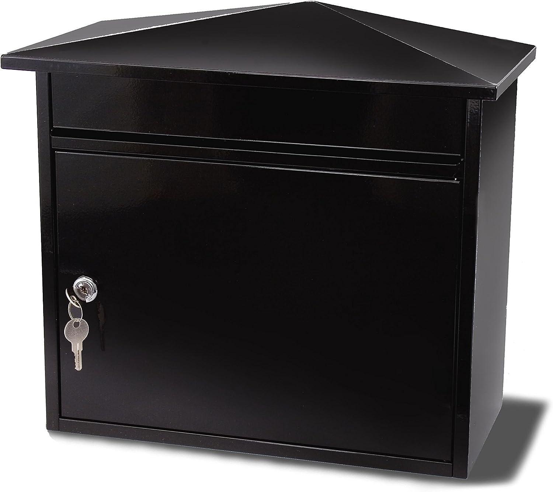 tama/ño A4, acero G2 Trading 5060217010228 color negro Buz/ón de correo para pared