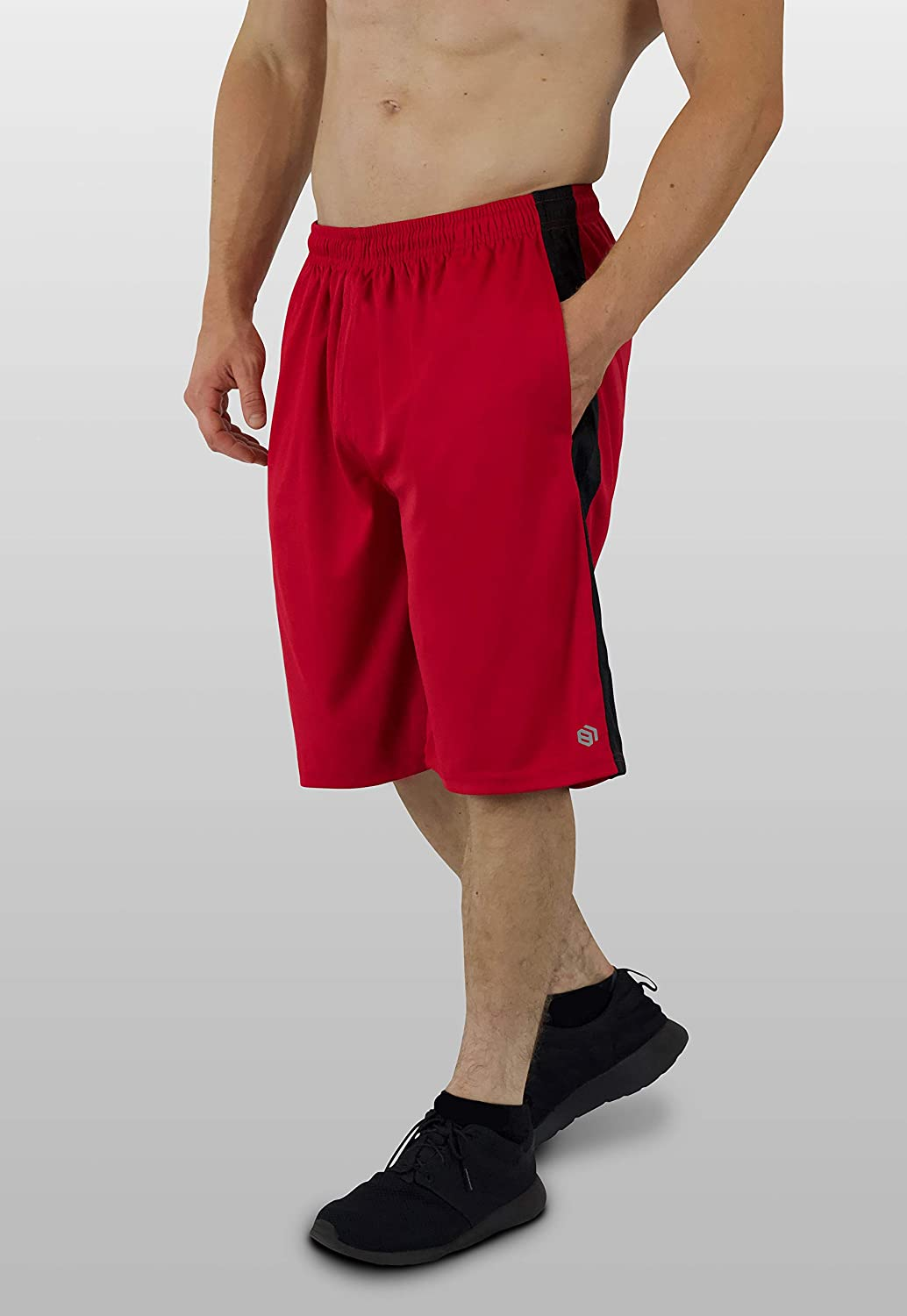 5 Pack Mens Premium Active Athletic Performance Shorts with Pockets