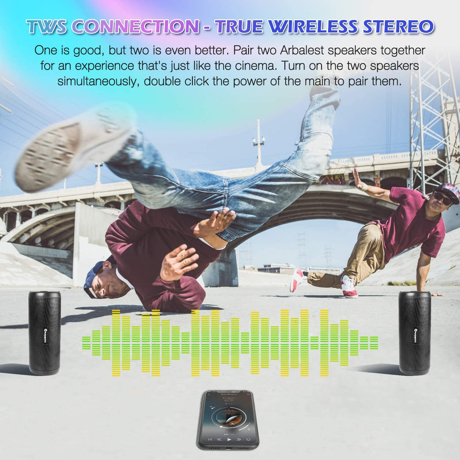 3.5mm Aux-in Connection Stereo Mini Soundbar Speaker for PC Cellphone Tablets Desktop Laptop Projector Arbalest Computer Speakers USB Powered Wired Sound Bar with Mic