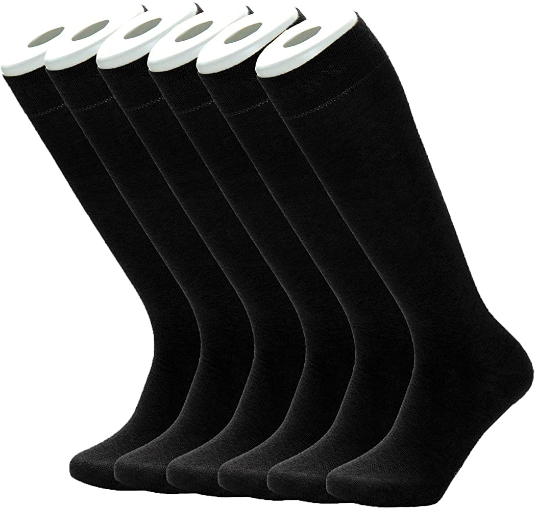 Mens 98/% Cotton Rich Slight Thin Dress Socks for Business Office Womens Casual Socks 6 Pack