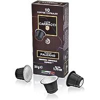 Caffè Carracci, Capsule Compatibili Nespresso, Palermo - 10 astucci da 10 capsule (totale 100 capsule)