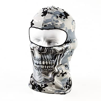 3195a74390593 Your Choice Balaclava Tactical Skull Motorcycle Full Face Ski Mask, Thin  Breathing Windproof UV Protective Hat for Women Men