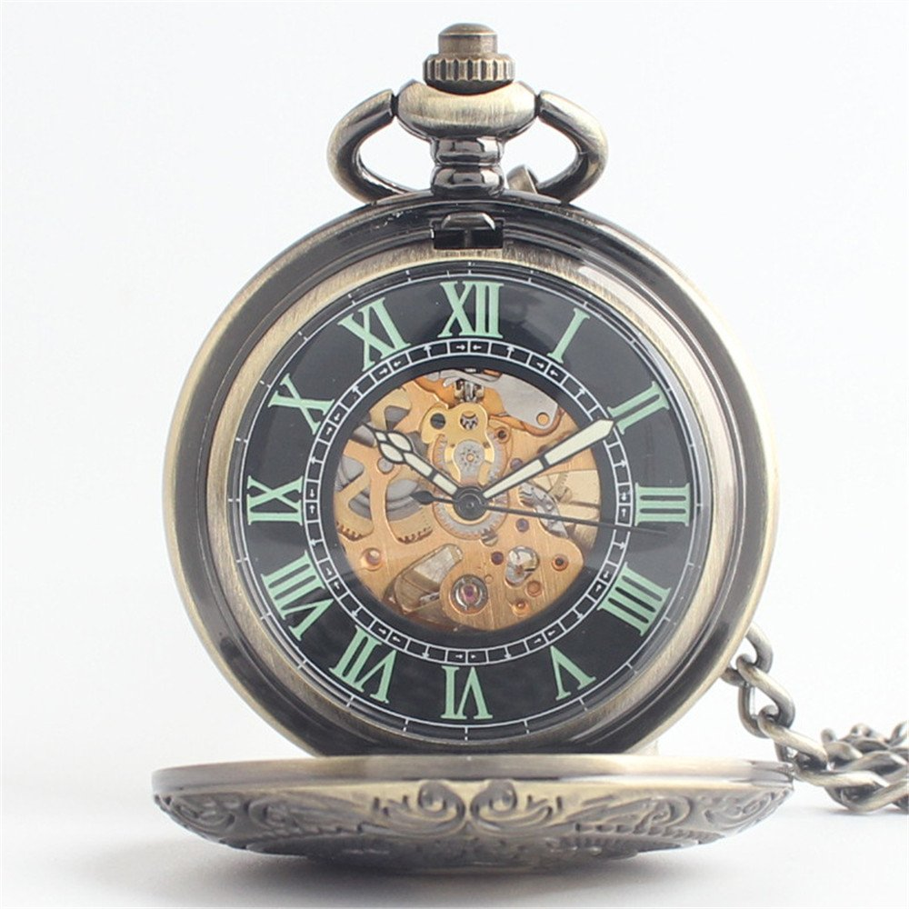 d69912439 Aihifly Retro Pocket Watch With Chain Boutique Mechanical Pocket Watch  Bronze: Amazon.co.uk: Kitchen & Home