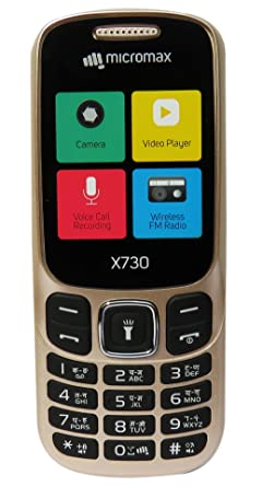 Micromax X730 Mobile with Wireless FM  Champaign  Basic Mobiles