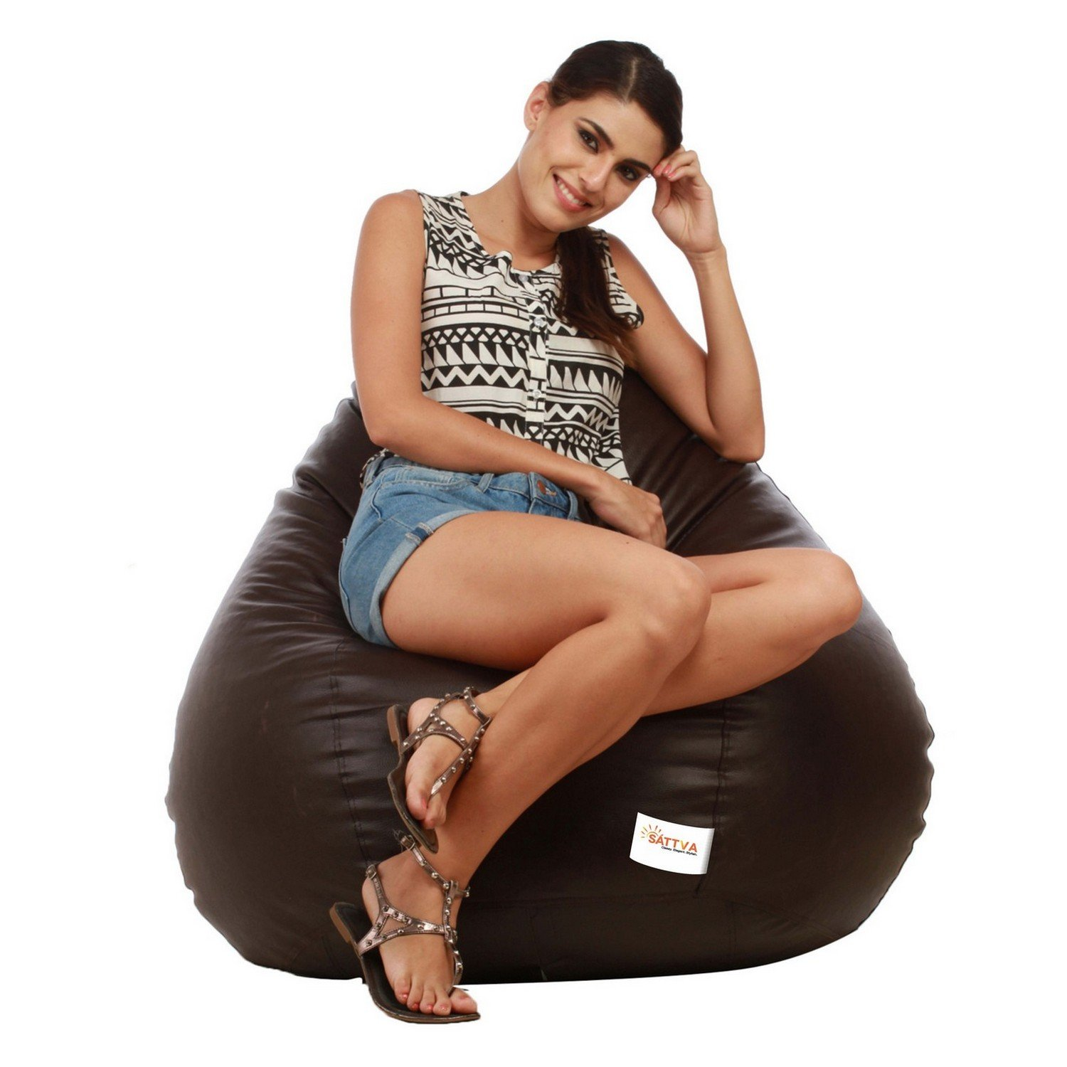 Sattva Classic XXL Bean Bag Without Beans (Brown)